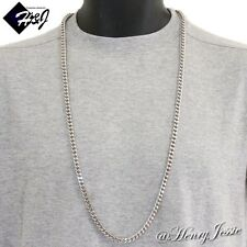 "36""MEN's Stainless Steel HEAVY 6mm Silver Franco Box Cuban Curb Chain Necklace"