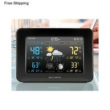 Wireless Digital Weather Station Color Forecast Thermometer Indoor Outdoor Clock