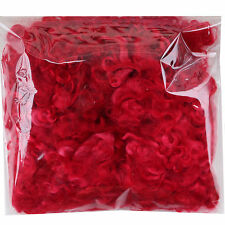 REAL MOHAIR LOCKS for Spinning Felting Knitting Doll Hair Rooting Wigs, Red