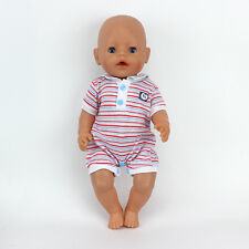 Grid jumpsuits Doll Clothes Wearfor 43cm Baby Born zapf (only sell clothes)