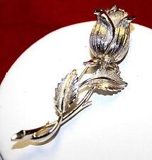 VTG Lisner Vintage Silver Tone Rose Pin/Brooch  1960's