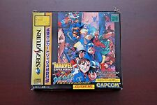Sega Saturn Marvel Superheroes VS Street Fighter + 4MB RAM JP SS game US Seller