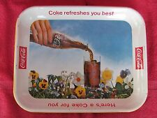 Vintage 1961 Drink Coca Cola Tray COKE REFRESHES YOU BEST Spring Time Soda Pop