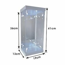 "White Acrylic Display Case LED Light Box for 12"" 1/6 Scale Phicen Action Figure"