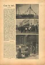 Port Fanfare Concarneau Bretagne/Nuit de la Rose à Bagatelle 1938 ILLUSTRATION