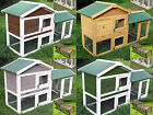 RABBIT HUTCH GUINEA PIG HUTCHES RUN LARGE TIER DOUBLE DECKER CAGE