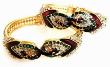 1pc FASHION PEACOCK DANCE BOLLYWOOD INDIAN GOLDPLATED BRACELET BANGLE 2.6 #252