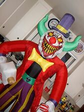KILLER CLOWN Airblown INFLATABLE HALLOWEEN YARD PROP. SCARY CLOWN. USED.