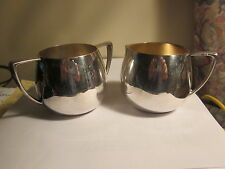 Mid Century Modern Silver Sugar And Creamer Caddy Empire Crafts Quadruple Plate