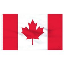 Solarmax Nylon 210D Canada Canadian Flag 3x5 House Banner with Clips