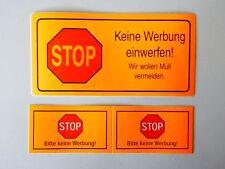 3 x Briefkasten Aufkleber - STOP KEINE WERBUNG