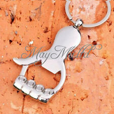 Silver Metal Palm Hand Shape Beer Bottle Opener Key Chain Key Ring S