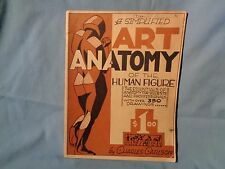 1941 A SIMPLIFIED ART ANATOMY of the HUMAN FIGURE Drawing Book Charles Carlson