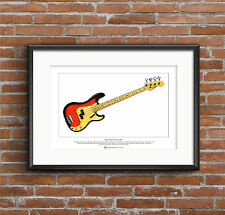 Duck Dunn's 1958 Fender Precision Bass Limited Edition Fine Art Print A3 size