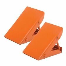 WHEEL CHOCKS FOLDING STEEL CARAVAN VEHICLE TRAILER HEAVY DUTY PAIR P11