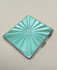 LOVELY SOLID SILVER GUILLOCHE ENAMEL CIGARETTE CASE, BIRM 1938, 92.8g / 3.27oz