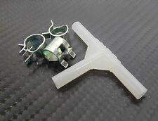 T-piece & Spring Clamps to fit 4mm I.D  Silicone Ideal for Boost Gauge Fitment