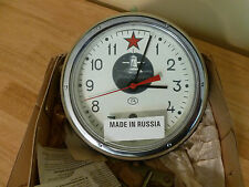 Russian Submarine 5-24M Vostok 12-jewel Mechanical Marine Clock. NOS - Tested.
