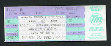U2 1992 Zoo TV Tour Unused Full Concert Ticket Anaheim Stadium Achtung Baby Bono