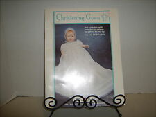 FIBRE CRAFT BABY DOLL CHRISTENING GOWN SEWING PATTERN 1992 OOP UNCUT