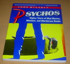 PSYCHOS  JOHN MCCARTY  1986  FIRST EDITION 1ST  ST MARTIN'S PRESS  HORROR MOVIES