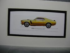1970 Ford Mustang  Boss 302 From  50 Year Anniversary Exhibit by artist