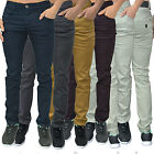 Mens Designer Enzo Trousers Chinos Stretch Skinny Slim Fit Jeans All Waist Size