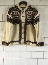 WOMENS URBAN VINTAGE RETRO AZTEC WINTER CLASP NORWEGIAN JUMPER CARDIGAN #39