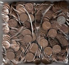 500 MIXED DATE AVERAGE CIRCULATED WHEAT PENNIES (10 ROLLS)