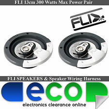 "Honda Jazz 2001 - 2008 FLI 13cm 5.25"" 360 Watts 3 Way Front Door Car Speakers"
