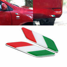 2X Car Italy Flag Italian Emblem Stickers Fender Decal For Fiat Mini Peugeot sg3