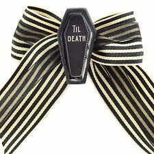 Se7en Deadly Death Coffin Hair Clip Bow Seven Goth Punk Rockabilly Victorian