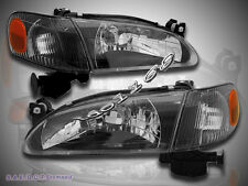 98-00 TOYOTA COROLLA BLK CRYSTAL CLEAR HEADLIGHTS LEFT RIGHT +CORNER LIGHTS 4PCS