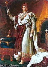 Ancienne carte postale NAPOLEON Ier en costume du sacre, voir photos.