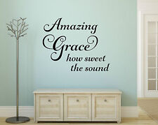 AMAZING GRACE  Home Vinyl Wall Decal Decor Words Lettering Sticker Religious