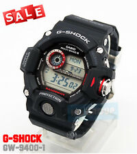 G-SHOCK BRAND NEW WITH TAG GW-9400-1 Rangeman Military Black Triple Sensor WATCH