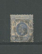 Hong Kong, TEN CENTS, 10 C, gestempelt