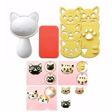 4Pcs/Set PP Kawaii Cat Rice Mold Sushi Egg Chocolate Mold DIY Kitchen Tool