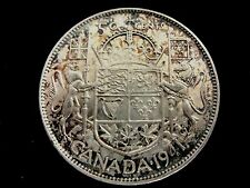 1941 CANADA HALF DOLLAR WITH RAINBOW TONING
