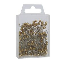 """Pearl head pins Antique Gold florists corsage craft buttonhole 1.5"""" Box of 144"""