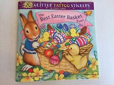 THE BEST EASTER BASKET EVER! PAPERBACK BOOK WITH 20 GLITTER TATTOO STICKERS 3+