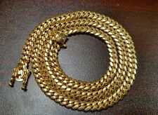 "26"" 14k Gold Plated Silver Miami Cuban Link Chain, 6 mm 95 grams"