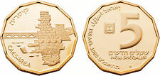 Israel 1988 Caesarea 5 Sheqalim Gold Proof Coin