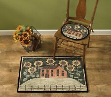 """House and Sunflowers Hand-Hooked Rug by Park Designs - 24"""" x 36"""""""