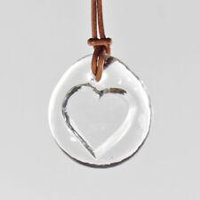 Lindshammar - Vintage Romantic Heart Necklace Pendant - 1960s NOS Swedish Glass