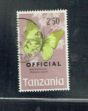 Tanzania 1973 2/50 butterfly official used