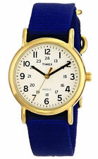 "Timex T2P475, Women's ""Weekender"" Blue Fabric Watch, Indiglo, T2P4759J"