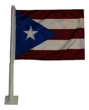 "12x18 Puerto Rico Double Sided Car Window Vehicle 12""x18"" Flag"