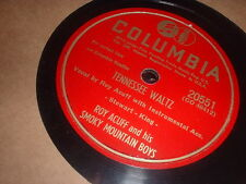 78RPM 2 Columbia by Roy Acuff, Sweeter than Flowers,Tennessee Waltz,Songbird V+