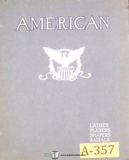 American Tool Works Collection Circulars, Lathes Shapers Planers Drills Manual
